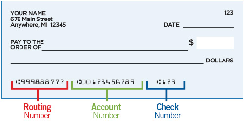 how to find bank routing number and account number on check