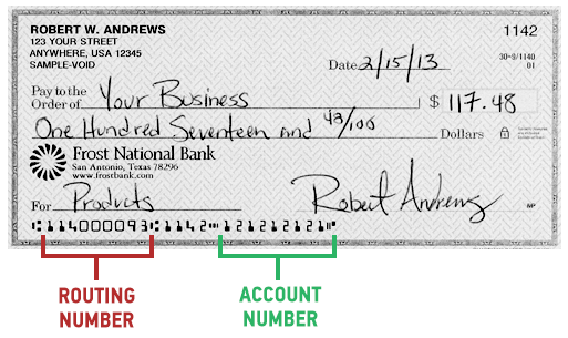 checking account bdvance woodforest bank routing
