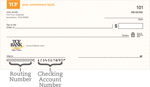 TCF National Bank Routing Number - Banks America