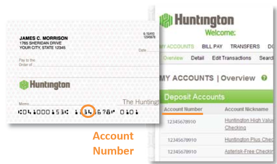 Huntington Bank Account Number