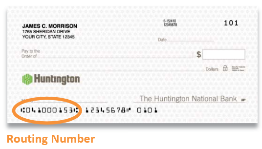 Huntington Bank Routing Number